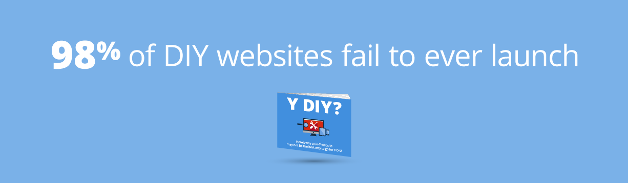 98% of DIY websites fail to ever launch