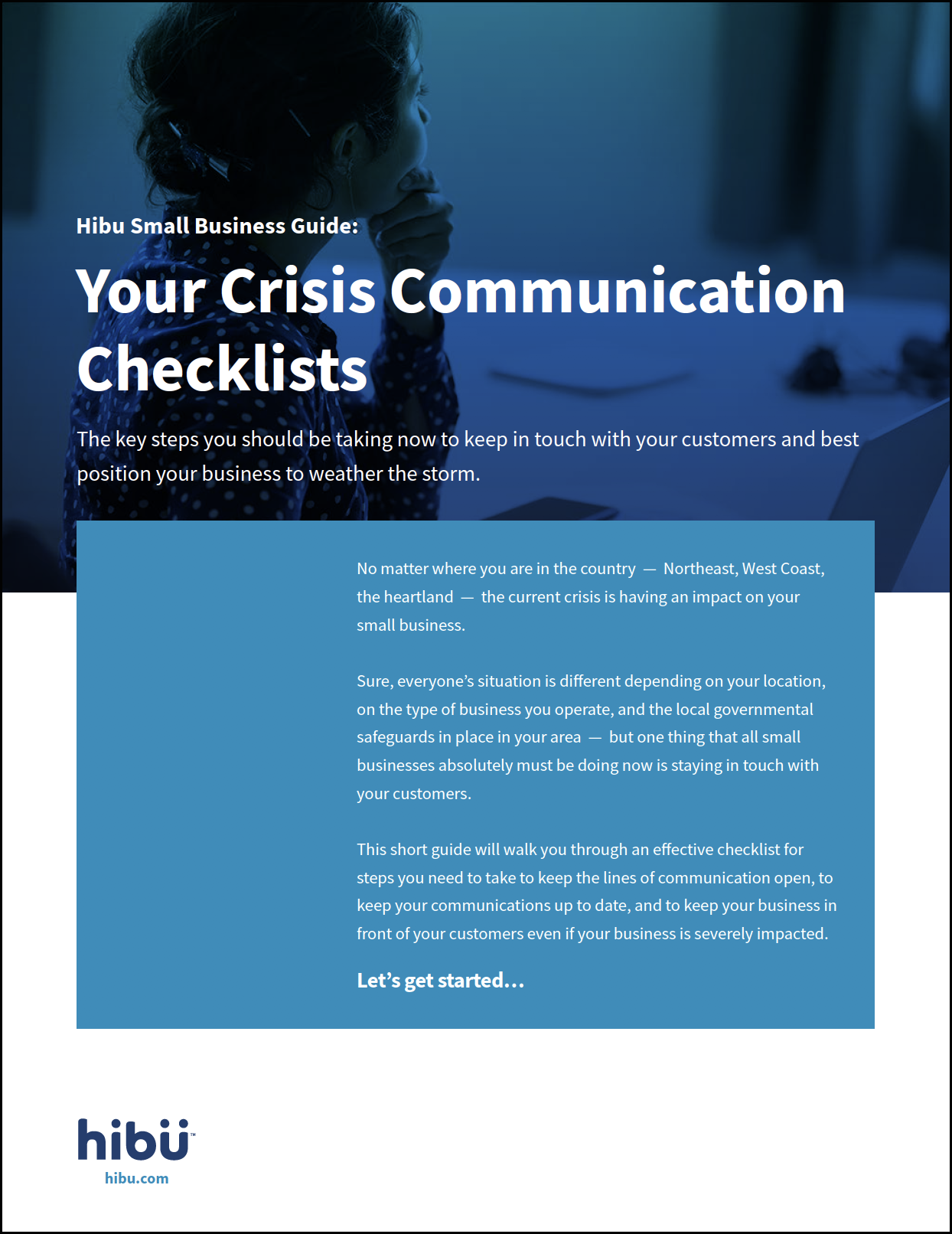 Hibu Small Business Guide: Crisis Communication Checklists