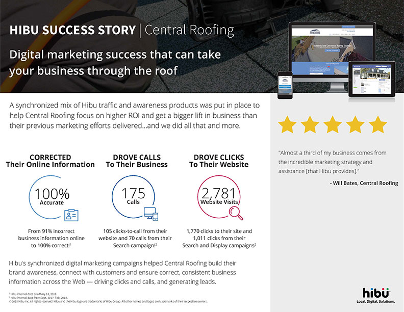 Hibu Success Story - Central Roofing