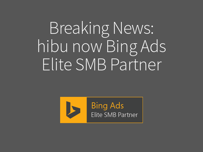 hibu now Bing Ads Elite SMB Partner