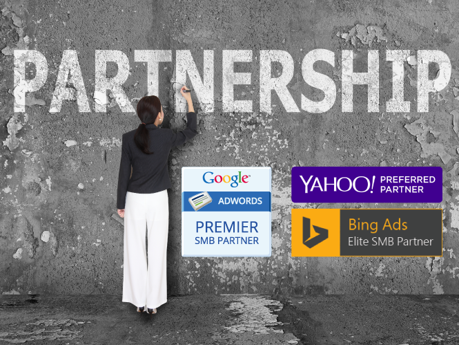 hibu partners and works closely with the top three search engines, Google, Yahoo and Bing