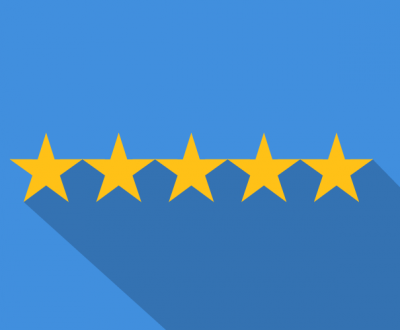 Four stars showing the importance of hibu reviews