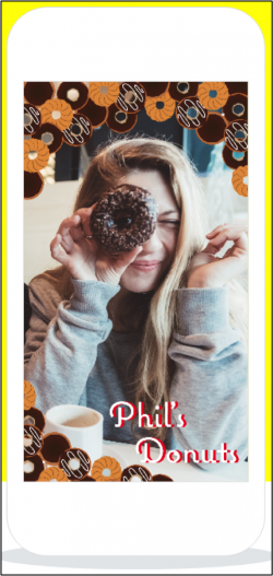 Snapchat - Phil's Donuts Geofilter
