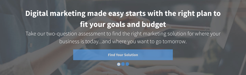 Digital marketing made easy starts with the right plan to fit your goals and budget - the Hibu Solutions Finder