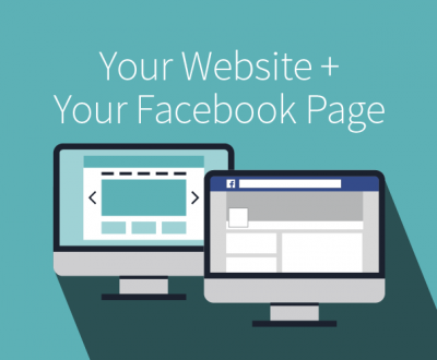 your website and your facebook page